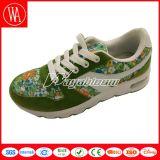Chaussures de course d'enfants Lace-up avec l'impression de fleurs