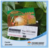 Cartão transparente do PVC do plástico