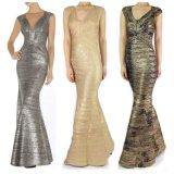 Heißes stempelndes elegantes langes Verband-Kleid