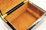 Caixa de relógio de madeira do preto da laminação de Matt