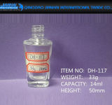 Bottiglia di vetro della vernice del polacco di arte del chiodo per trucco cosmetico