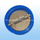 Type clapet anti-retour de gaufrette de fer de fonte d'oscillation de disque de double