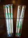 Venta caliente en palillos de bambú reutilizables de la venta al por mayor de la funda plástica de Rusia