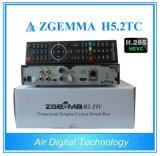 H. 265/Hevc HD 수신기 Zgemma H5.2tc DVB-S2+2*DVB-T2/C 잡종 결합 조율사