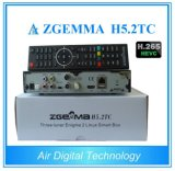 Afinadores combinados híbridos de Zgemma H5.2tc DVB-S2+2*DVB-T2/C do receptor do H. 265/Hevc HD