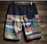Linen краткости доски ткани/вскользь кальсоны, напечатанные краткости пляжа конструкции для человека