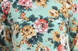 Camisola francesa impressa floral poli das mulheres/do algodão Terry (OEM/WHOLESALE)