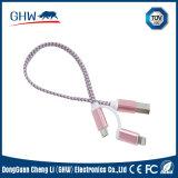2 en 1 câble de remplissage normal de TUV pour des téléphones