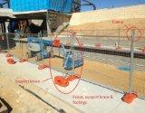 Cerco provisório removível resistente com cinta da sustentação/painel portátil da cerca