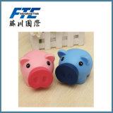 Batería animal del dinero del diseño encantador plástico del cerdo del PE para la venta