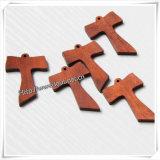Hölzernes Kreuz für das Tragen neben Haut/hölzernes Kreuz (IO-cw016)