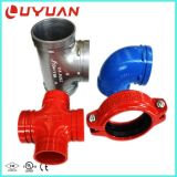 Accessorio per tubi Grooved del ferro di ASTM Ductilie con l'approvazione dell'UL di FM