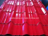 Lamiera sottile d'acciaio ondulata galvanizzata del tetto ricoperta colore di PPGI