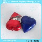 赤い中心の形プラスチックUSBのフラッシュ駆動機構(ZYF1200)