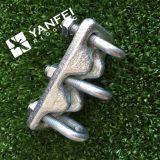 Clip triplice galvanizzata della fune metallica