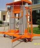 Plate-forme de fonctionnement en aluminium mobile de double mât hydraulique