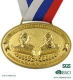 Новой золотая медаль персонализированная конструкцией