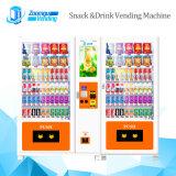 Bebida fría Snack y Beverage Vending Machine Apoyo de la función de lector de tarjetas