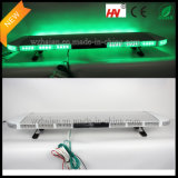 LED verde Emergency Warning Lightbar in Silver Aluminum Dome