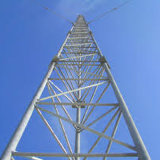 Gitter Abgespannten Masten Guyed Draht-Aufsatz für Telekommunikation