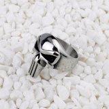 Anel de aço para o anel dos crânios do anel do aço inoxidável dos homens dos homens inoxidável