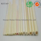 Tubo de cerámica de horno del alúmina del tubo de la pureza elevada 95-99.9% del alúmina del termocople de la protección de cerámica de cerámica del horno