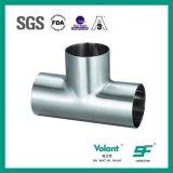 T-stuk van het Roestvrij staal van de Montage van de pijp het Sanitaire Gelaste Lange