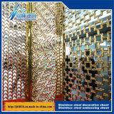 Plaque décorative gravante en relief de cavité d'écran de feuille de plaque décorative de couleur d'acier inoxydable