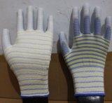 13 gants de polyester d'interpréteur de commandes interactif de mesure avec l'unité centrale ont enduit