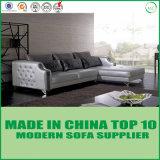Form-Edelstahl-Bein-Leder-Sofa mit Kristalltasten-Dekoration