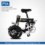 12 pulgadas 48V 250W plegables la bici eléctrica (THZ1-40BK) con Ce