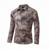 여름 Quick-Dry 전술상 Camo 길거나 짧은 소매 셔츠