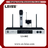 Ls 802 직업적인 오디오 이중 채널 UHF 무선 마이크