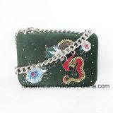 ブランドデザイナー女性は刺繍したスエードのハンドバッグ(NMDK-050824)を