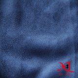 Одна бортовая голубая почищенная щеткой ткань замши полиэфира для софы