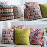Großhandelsbaumwollleinenthrow-Kissen auf Couch für jugendlich Mädchen