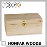 DIY를 위한 처리되지 않는 미완성 나무 상자 선물 상자 포장 상자