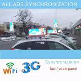 Video dinamico del supporto del tetto dell'automobile di colore completo del LED P5, P6 esterno