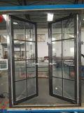 Deur van de Gordijnstof van het Aluminium van het Glas van de Kwaliteit van Woodwin de Opperste Dubbel Aangemaakte
