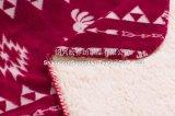 Maneton d'ouatine de Sherpa estampé par polyester 100% - pétroglyphe Southwest