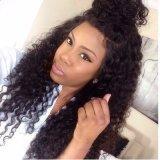 Курчавый полный парик шнурка/парик шнурка передний для чернокожих женщин