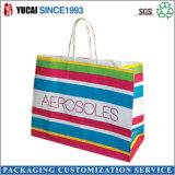 Bolso de compras reciclado de la bolsa de papel del portador de las señoras para la ropa