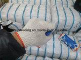 Guantes 100% del algodón de la alta calidad con el látex cubierto