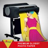 Papier lustré de photo d'approvisionnement d'usine pour le roulis de papier de photo d'imprimante à jet d'encre imperméable à l'eau
