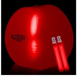 Promoción de color rojo inflable pelota de playa con LED de Bang Dentro de la Parte