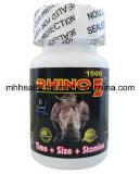 Leistungsfähige männliche Verbesserungs-Pillen 7 Pillen des extremen Energien-Nashorns 5 1500mg