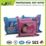 Wipes bagnati di rimozione cosmetica organica delle donne dell'OEM per cura personale