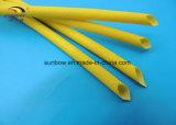 Funda que envuelve de la fibra de vidrio da alta temperatura revestida del silicón del caucho de silicón