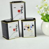 Firmenzeichen-Quadrat-Tee-Zinn-Kasten des neuen Produkt-2017 kundenspezifischer