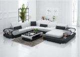 Sofà di svago con cuoio genuino per il salone Lz3314
